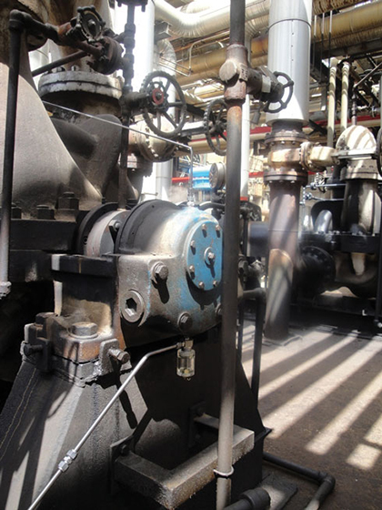 Pure oil mist in centrifugal pump