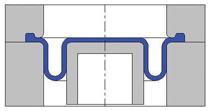 Rolling diaphragm