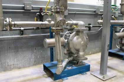 AODD pump in factory