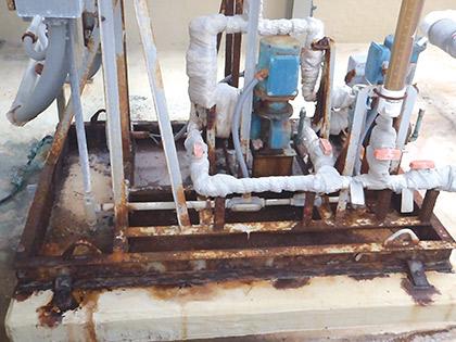 rusting acid skid