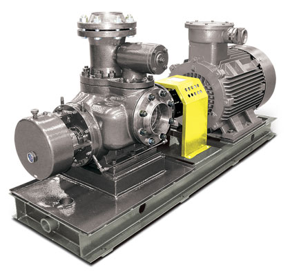 Blackmer S Series twin screw pumps with timing gear