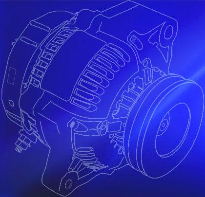 Motor in Blue