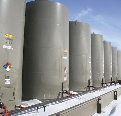 Bakken produced crude oil