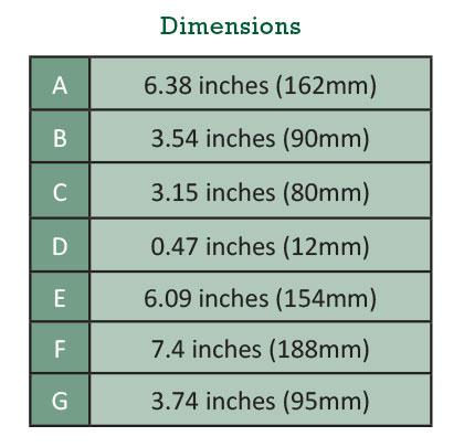 Pump dimensions