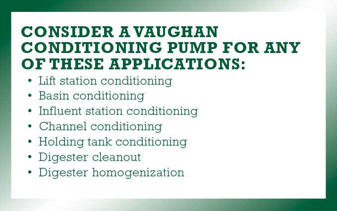 Vaughan Condition Pump considerations