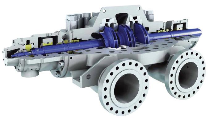HPDM axially split volute pump