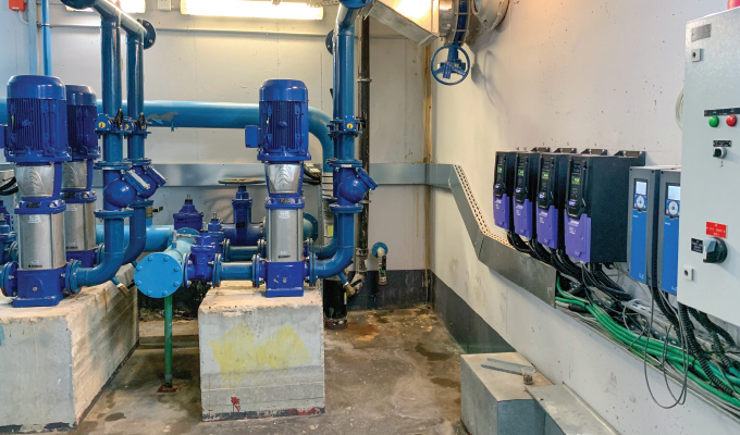 Hospital Water Supply Optimized with Optidrive Eco
